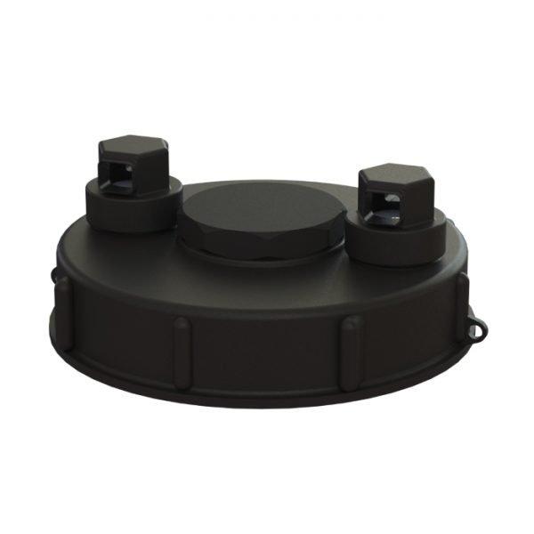 Lock till IBC-behållare S160x7, med två ventiler