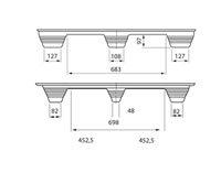 Presswoodpall 1140×1140, 900 kg