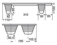 Presswoodpall 400×600, 250 kg