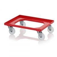 Backvagn med polyamidhjul i rostfritt stål, 620x420