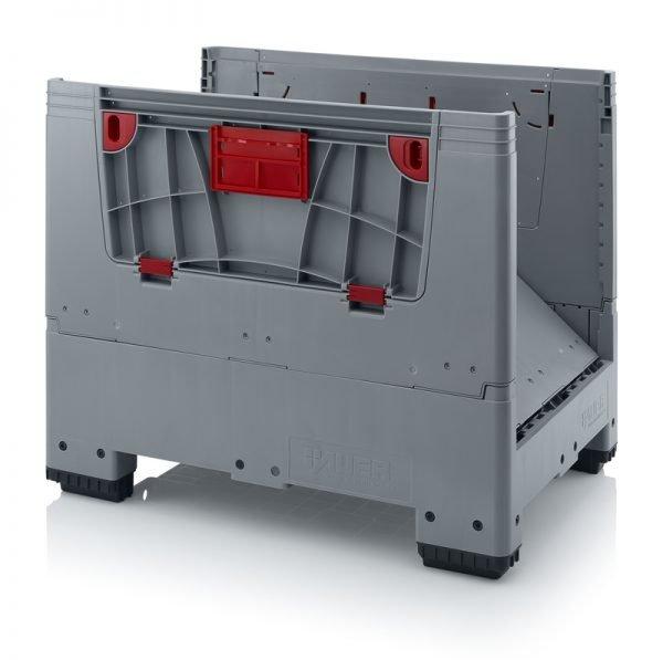 Hopfällbar big box med 4 packningsluckor, 1200x1000x1000