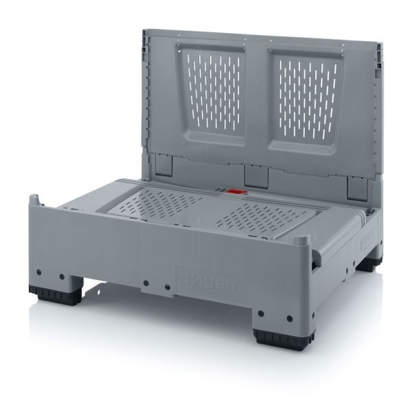 Hopfällbar big box med ventilationskåror, 1200x1000x1000