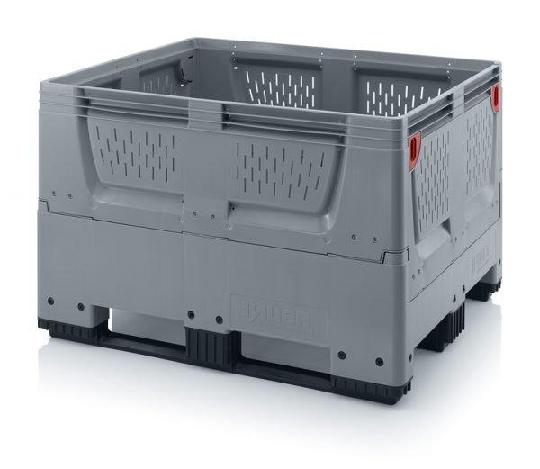 Hopfällbar big box med ventilationskåror, 1200x1000x790