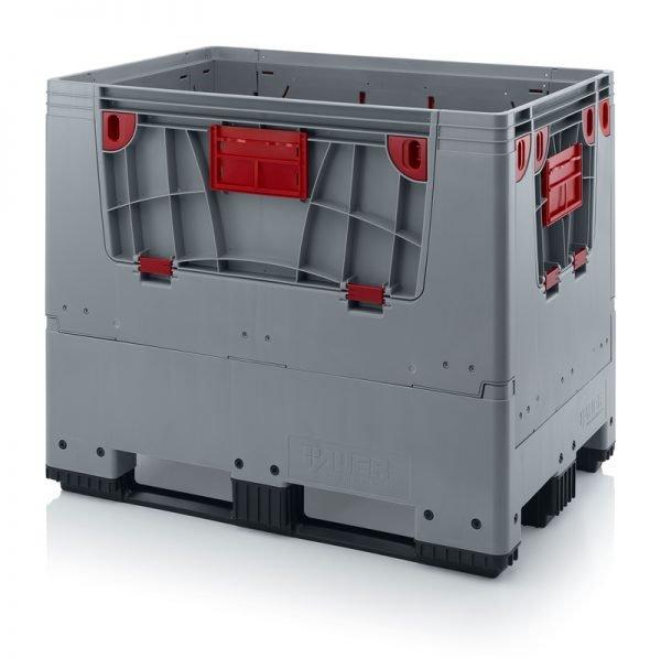 Hopfällbar big box med 4 packningsluckor, 1200x800x1000 - 3 medar