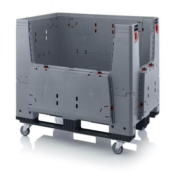 Hopfällbar big box med 4 packningsluckor, 1200x800x1000