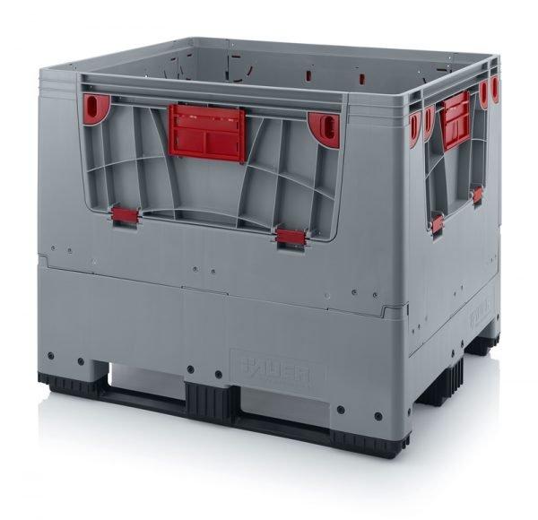 Hopfällbar big box med 4 packningsluckor, 1200x1000x1000 - 3 medar