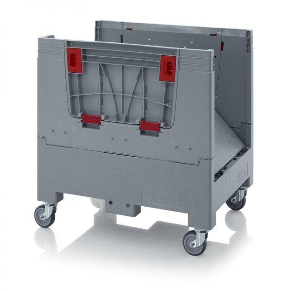 Hopfällbar big box med 4 packningsluckor, 800x600x790