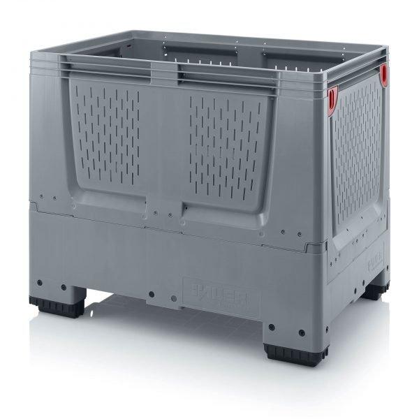 Hopfällbar big box med ventilationskåror, 1200x800x1000