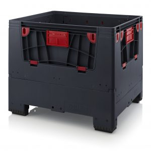 Hopfällbar ESD -big box med 4 packningsluckor, 1200x1000x1000