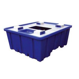Uppsamlingskar av plast för en IBC-behållare