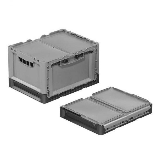 Fällbar plastlåda, 400x300x240