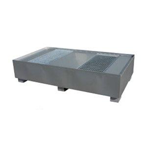 Uppsamlingskar av stål för två IBC-behållare
