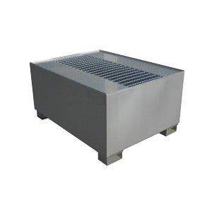Uppsamlingskar av stål för en IBC-behållare