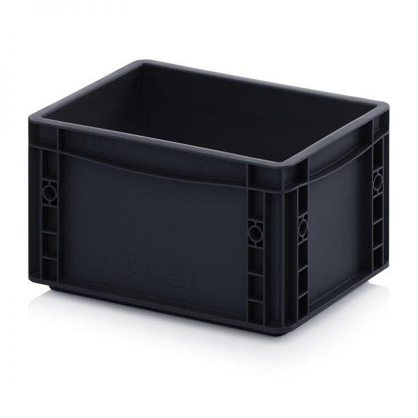 ESD euroback av elektriskt ledande material för förvaring och transport av elektroniska artiklar