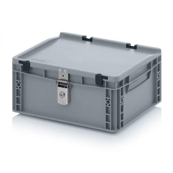 Euro behållare, låsbara, 400x300x185