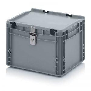 Euro behållare, låsbara, 400x300x285