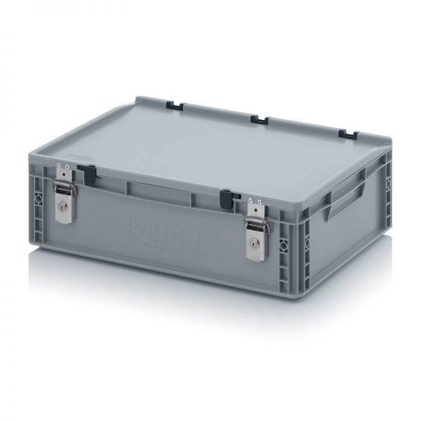 Euro behållare, låsbara, 600x400x185