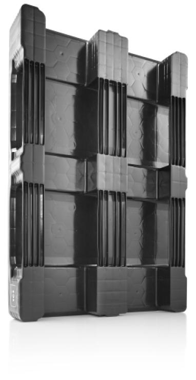 Plastpall 800x1200x160, 1250 kg